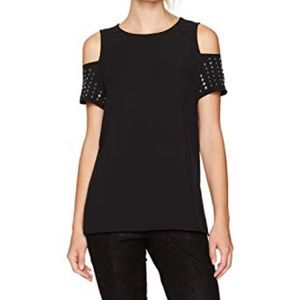 Calvin Klein cold shoulder top with studs